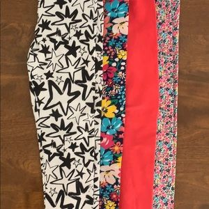 Girls 4/4T Set of 4 Full Length Leggings